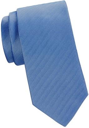 Eton Textured Striped Silk Tie