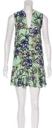 Alice + Olivia Floral Print Mini Dress