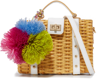 Milly Wicker Small Satchel $345 thestylecure.com