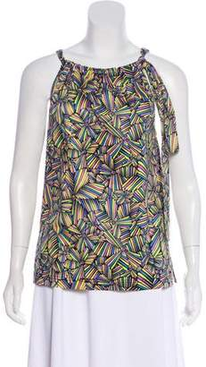 Marc by Marc Jacobs Sleeveless Abstract Print Blouse
