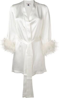 Gilda & Pearl Kitty satin robe