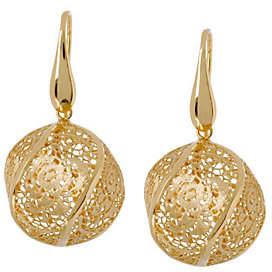 Arte d'Oro Floral Lace Bead Dangle Earrings, 18