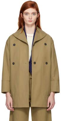 Carven Beige Cotton Coat