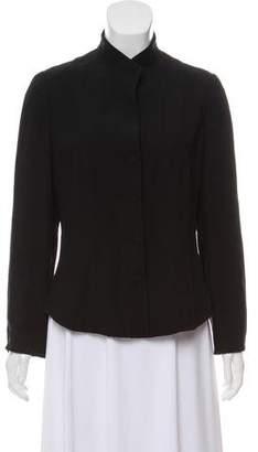 Giorgio Armani Structured Mandarin Collar Blazer