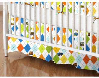 SheetWorld 100% Cotton Flannel Crib Skirt, Transportation