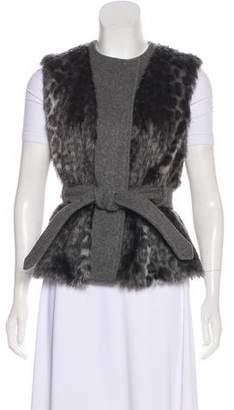 Rebecca Taylor Wool & Faux Fur Vest