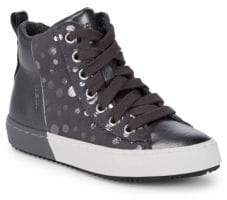 Geox Girl's Leather High-Top Sneakers