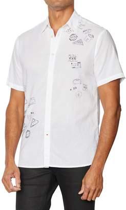 John Varvatos Clyde Short-Sleeve Button-Down Shirt