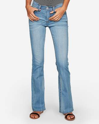 Express Mid Rise Thick Stitch Bootcut Jeans