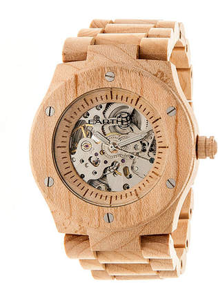 Earth Wood Grand Mesa Automatic Khaki Bracelet Watch ETHEW3101
