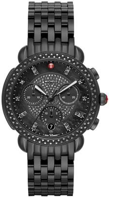 Michele Sidney Chronograph Diamond Bracelet Watch, 38mm
