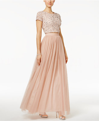 Adrianna Papell 2-Pc. Sequined Tulle A-Line Dress $299 thestylecure.com