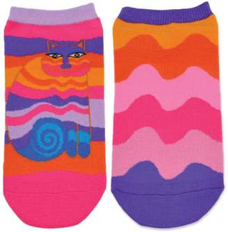 Laurèl Burch Women's Rainbow Cat 2 Pair Pack