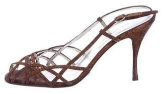 Dolce & Gabbana Metallic Slingback Sandals