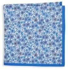 Ike Behar Silk Floral Pocket Square