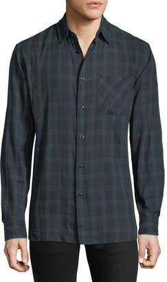 Rag & Bone Plaid Button-Front Beach Shirt
