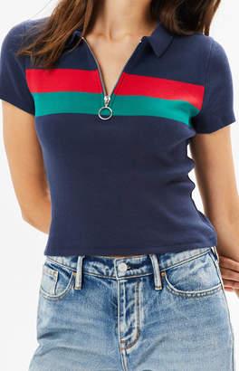 Me To We Zipper Polo T-Shirt