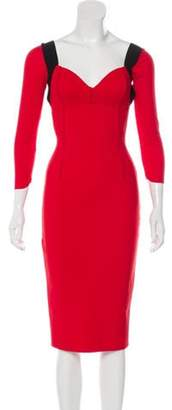 Chiara Boni Midi Bodycon Dress Red Midi Bodycon Dress