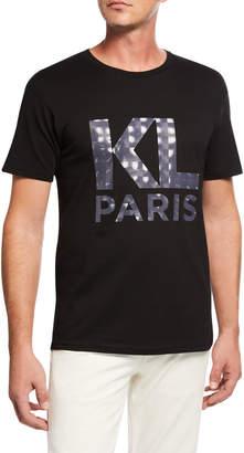 Karl Lagerfeld Paris Men's Cotton T-Shirt with Printed Logo