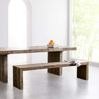 west elm Emmerson® Reclaimed Wood Dining Bench - Stone Gray