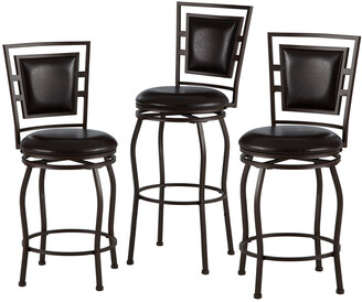 Linon Set Of 3 Townsend Adjustable Stools