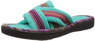 totes Isotoner Signature Women's Microterry Payton Cross Slide Flat