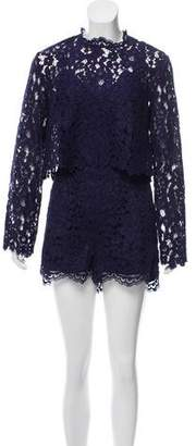 Saylor Long Sleeve Lace Romper
