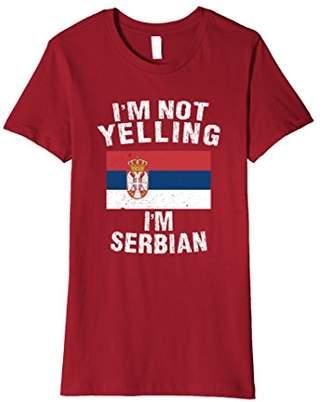 I'm Not Yelling I'm Serbian Shirt - Serbia Flag TShirt
