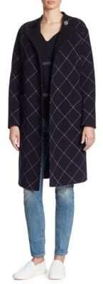 Armani Collezioni Double-Face Windowpane Wrap Coat