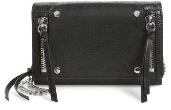 Botkier Vanderbilt Leather Wallet On A Chain - Black