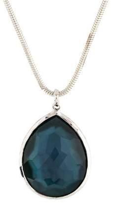 Ippolita Quartz Doublet Large Teardrop Wonderland Pendant Necklace