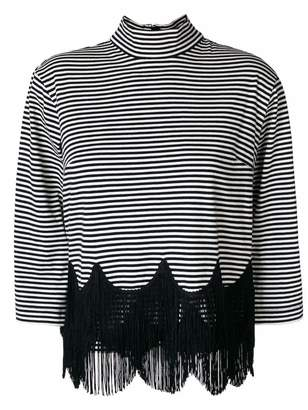 Marc Jacobs striped fringe top