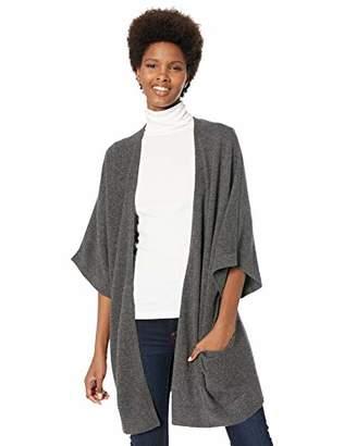 Lark & Ro Women's Oversized Drapey Open Cardigan Cashmere Sweater with Pocket