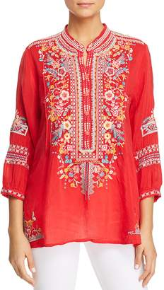 Johnny Was Bethanie Embroidered Tunic