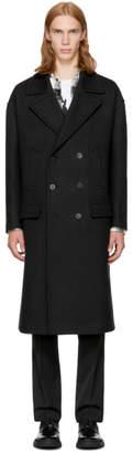 Neil Barrett Black Wool Double-Breasted Coat