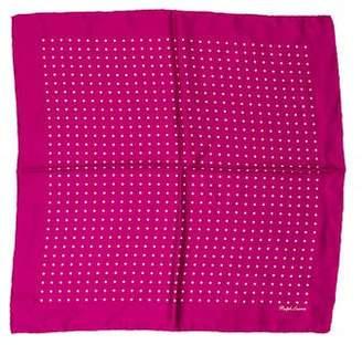 Ralph Lauren Purple Label Silk Polka Dot Pocket Square