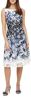 Phase Eight Angela Floral Lace Fit-and-Flare Dress