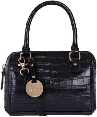 Harrods Mini Croc-Embossed Barrel Bag
