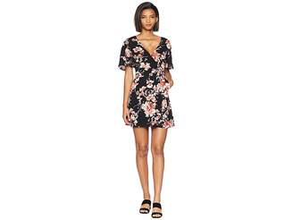 BB Dakota Wait Until Dark Floral Rap Dress