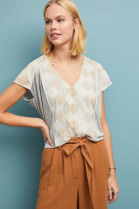 Tiny Sea Fan Embroidered Top