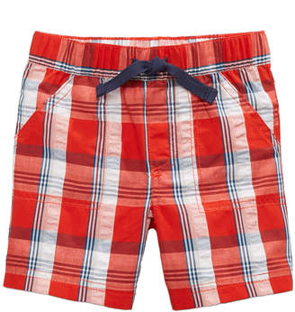 First Impressions Plaid Cotton Seersucker Shorts, Baby Boys, Created for Macy's