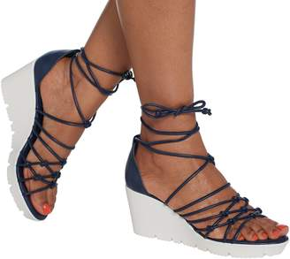 Charles by Charles David Lace-Up Wedge - Vegas