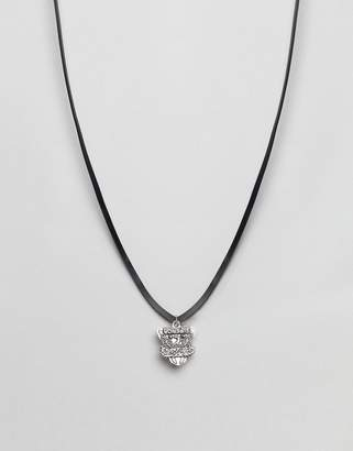 Diesel Leather Cord Necklace