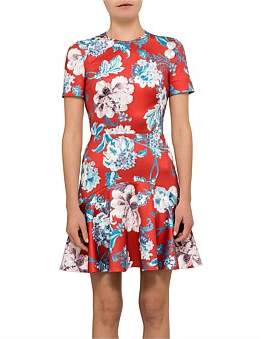 Lover Dhalia Flip Mini Scuba Shortsleeve Dress