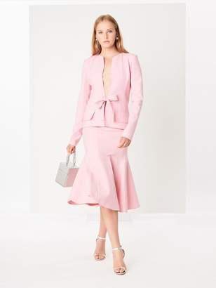 Oscar de la Renta Petal Double-Face Stretch-Wool Skirt