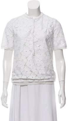Diane von Furstenberg Warner Flower Lace Top