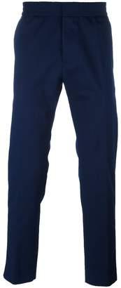 MSGM elastic waistband straight trousers