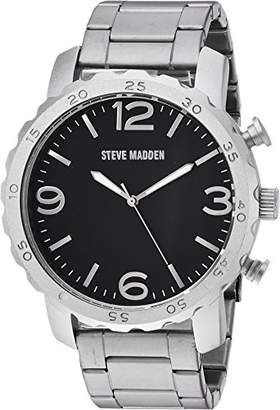 Steve Madden Men's SMW095-BK Analog Display Japanese Quartz Watch