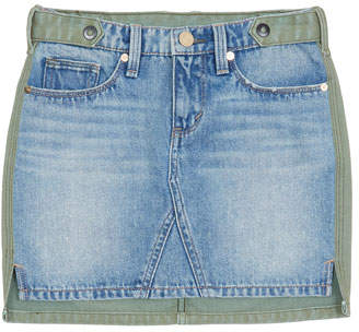 Habitual Cassia Denim-Front Mini Skirt, Size 7-14