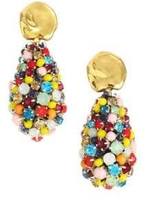 Lizzie Fortunato Roman Holiday 18K Goldplated& Gemstone Cluster Drop Earrings
